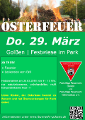 Osterfeuer in Golßen